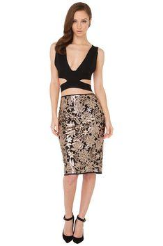 967f9c5e28 For Days Sequin Rose Gold Skirt  shopakira  beseenin2015 Rose Gold Skirt