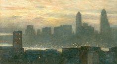 Frederick Childe Hassam: Manhattan's Misty Sunset (1911)