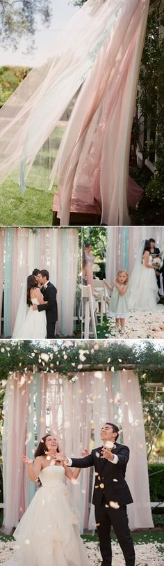 Beautiful ~ curtain/backdrop ~ easy & beautiful ~ great photo shoot idea