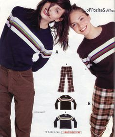 I still want to be wearing 90's Delia*s fashions, Oh those plaid pants and horizontal stripe sweaters.