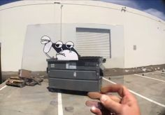 Storyboard Artist Shoots Entertaining Stop-Motion by Inserting Cartoons Into Real Life