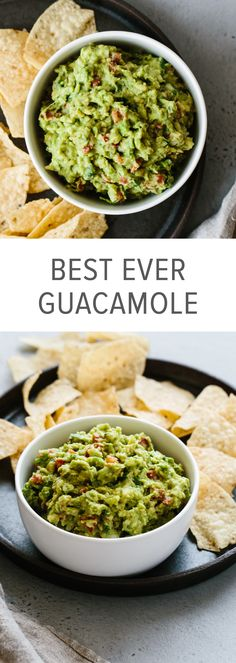 This guacamole recipe is simple to make and uses fresh, high quality ingredients. It's easy, authentic and delicious! #guacamole #guacamolerecipe #guacamolerecipeeasy #guacamolerecipebest