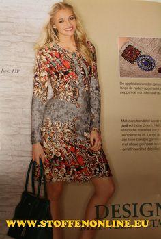 Diana mode nr 98, stof: vigevano, katoen/viscose een nieuwe kwaliteit jersey van Hilcostoffen