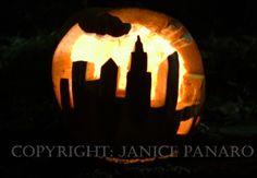 city skyline pumpkin carving