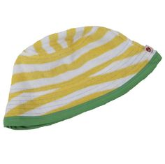 d346df285a71 Yellow Towelling Reversible Sunhat by Piccalilly Summer Sun