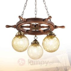Lampa wisząca Timone ze strukturalnym szkłem 2008151