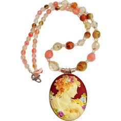 Beautiful Lady Cameo Necklace