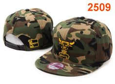 NBA Chicago Bulls Snapback Hat Camo