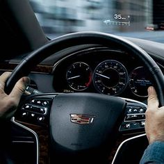 With Head-Up Display in the #XTS, see driving information and stay focused on the road. http://cadill.ac/ppT