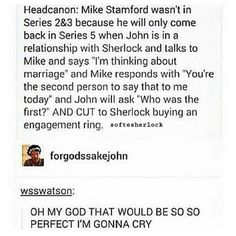 "394 Likes, 10 Comments - @johnlock.feed on Instagram: ""IF THIS HAPPENS MY LIFE IS COMPLETE """