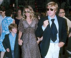 Robert Redford with wife Lola and son Jamie