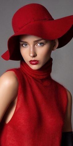Fashion,Beauty,Landscape,Home designe,sexy girls. Foto Fashion, Red Fashion, Beauty And Fashion, Simply Red, Glamour, Love Hat, Red Hats, Shades Of Red, Mode Style