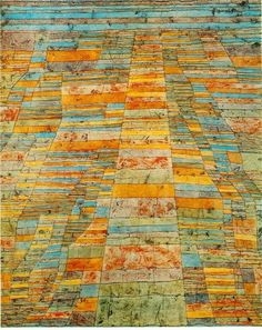 Paul Klee speaks to my heart with color and shape.