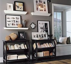 picture shelves.