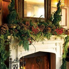 Holiday+Christmas+Fall+decor+-+interior+design+-+Fireplace+and+mantlepiece+decor+and+design+-+5.jpg (400×400)