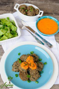 Chiftele de quinoa cu spanac si ciuperci servite alaturi de o salata verde si sos de rosii este tot ce ti-ai putea dori la o masa sanatoasa :) Healthy Food, Healthy Recipes, Dory, Quinoa, Vegan, Healthy Foods, Healthy Eating Recipes, Healthy Eating, Health Foods