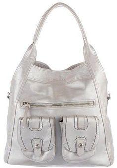 Hogan Metallic Leather Shoulder Bag