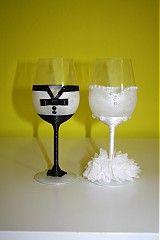 Svadba - Svadobne pohare Wine Glass, Tableware, Decorative Bowls, Dinnerware, Dishes, Place Settings, Wine Bottles