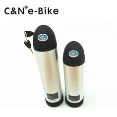 48V 11AH Lithium Water Bottle Battery Pack on Electric Bike