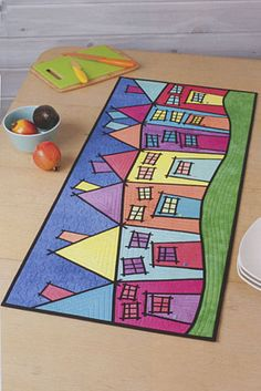 Additional Images of Colorful Fabric Collage by Sue Bleiweiss - ConnectingThreads.com