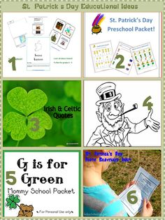 St. Patrick's Day Educational Kids Activities