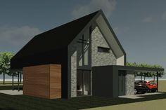 Nieuwbouw van een moderne schuurwoning in Boerakker