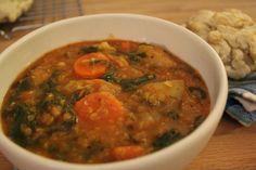 No Empty Fridge: Red Lentil and Swiss Chard Stew, vegan and vegetarian!