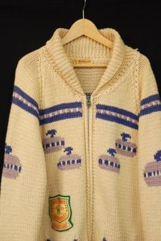 not a Mary Maxim. but a Warrior brand. Cowichan Sweater, Curling, Knit Crochet, Rocks, Stones, Rain, Wool, Sport, Retro