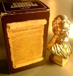 Old Vintage ABRAHAM LINCOLN AVON EVEREST GOLD AFTER SHAVE collectible $12.00 USD or Best Offer!