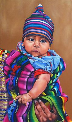 And here is a painting of a mexican baby for cinco de mayo Rose Oil Painting, Gouache Painting, Baby Drawing, Drawing For Kids, Guatemalan Art, Hispanic Art, Peruvian Art, Mexican Babies, Studio Portrait Photography