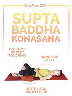 Supta Baddha Konasana | The 3 Best Yoga Poses For Stress Relief