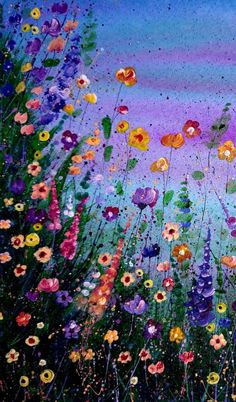 Flowers Discover Your place to buy and sell all things handmade Original Flower Painting Mixed Media Wild Flowers Abstract Meadow Painting Ink and Acrylic Floral Splatter Art Contemporary Artwork Splatter Art, Acrylic Painting Flowers, Acrylic Paintings, Spring Painting, Art Textile, Contemporary Artwork, Contemporary Artists, Flower Wallpaper, Art Floral