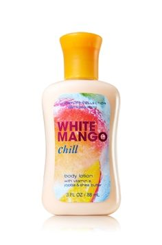 White Mango Chill Travel Size Body Lotion Signature Collection Bath & Body W - nails - Perfume Bath & Body Works, Bath N Body, Perfume Body Spray, Bath And Bodyworks, Body Hacks, Body Mist, Body Care, Face Care, Body Lotions