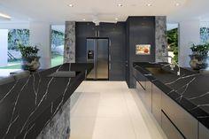Nero Marquita quartz - master closet shelving