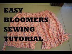EASY Bloomers Sewing Tutorial Lolita Cosplay Cute - YouTube