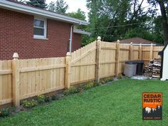Transitioning Dog Eared Privacy Fence