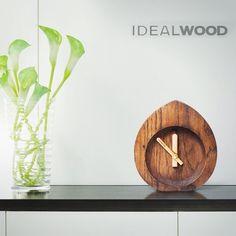 "wooden table clock golden section"" Wooden Clock, Wooden Tables, Natural Wood, Clocks, Interior Design, Home Decor, Wood Tables, Nest Design"