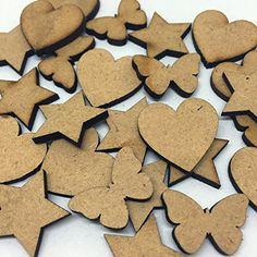 Rosey's Craft Shop's 50 Wooden MDF Shapes,Hearts,Stars,Butterflies-Random Mix Bag Laser Cut 3mm Thick Rosey's Craft Shop http://www.amazon.co.uk/dp/B019EGCZV2/ref=cm_sw_r_pi_dp_j4M2wb03ZR1V4