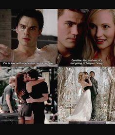 #TVD The Vampire Diaries Damon & Elena / Stefan & Caroline