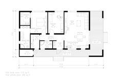 Modern Style House Plan - 2 Beds 2.00 Baths 1072 Sq/Ft Plan #549-19 Floor Plan - Main Floor Plan - Houseplans.com