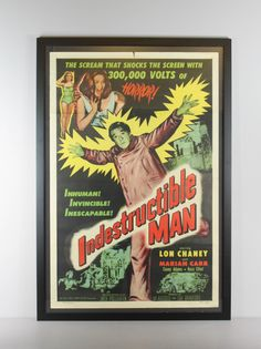 Renew Gallery | Indestructible Man Movie Poster