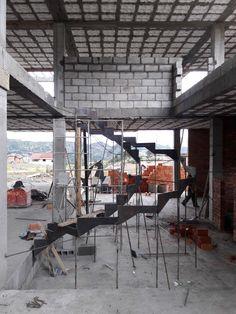 Construcción Proyecto A_A Cuencua, Ecuador Arquitectura contemporánea Diseño de Grada Detalle constructivo
