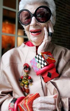 STYLE ICON IRIS APFEL. What an inspiration to all women!