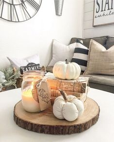 Fall Home Decor, Autumn Home, Diy Home Decor, Rustic Fall Decor, Country Decor, Fall Living Room, Living Room Decor, Living Rooms, Decor Room
