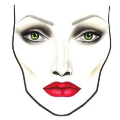 MAC maleficent collection - official face chart