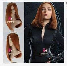 LMRA572  charming medium Brown orange mixed hair cosplay Straight Women Wigs #Unbranded