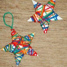 yarn wrapped ornament