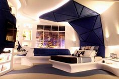 Image of: futuristic bedroom interior design Futuristic Bedroom, Futuristic Interior, Futuristic Design, Modern Interior, Home Interior Design, Interior Decorating, Interior Ideas, Decorating Blogs, Design Hotel