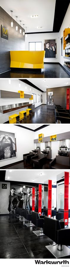 Award Winning Branded Interior Design For Mitch Mens Salon In Normal Il
