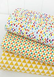 Geometric patterns 100% Cotton Fabric  / Quilting fabric off cuts (fft 173)